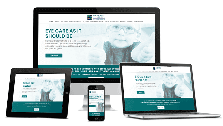 Website Mockup for Opticians